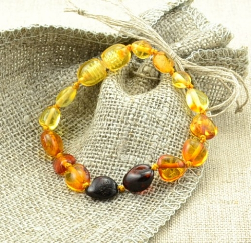 Baltic rainbow amber teething bracelet - SOLD OUT