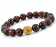 Beaded Bracelet For Men Made of Precious Healing Baltic Amber
