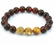 Bead Bracelet for Men with Baltic Amber