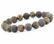 Beaded Bracelet for Guys Made of Healing Baltic Amber