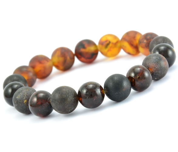Beaded Bracelet For Guys With Baltic Amber