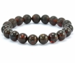 Beaded Bracelet for Men with Baltic Amber
