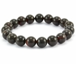 Beaded Bracelet for Men with Black Healing Baltic Amber