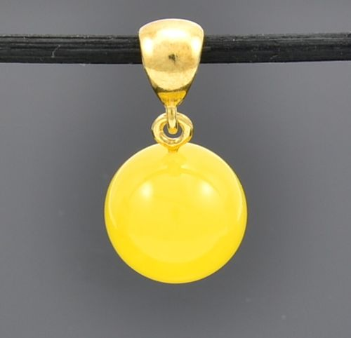Baltic Amber Pendant Made of Butterscotch Baltic Amber