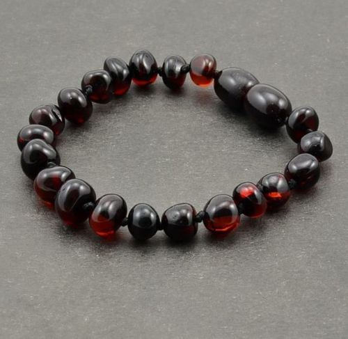 Amber Bracelet Made of Healing Cherry Baltic Amber