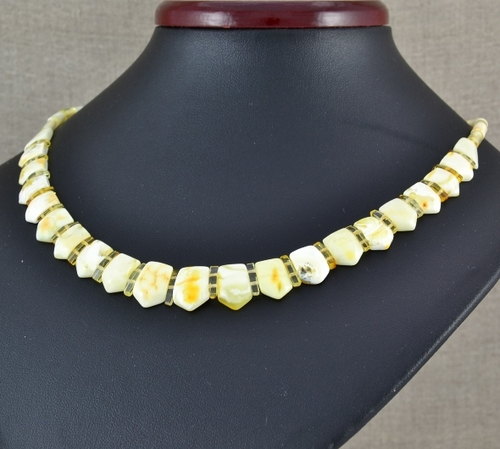 Cleopatra Necklace with Butterscotch Baltic Amber - 18 inches long