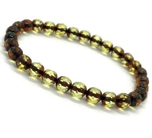 Faceted Amber Bracelet Made of Amazing Healing Baltic Amber