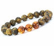 Men's Beaded Bracelet Made of Healing Amber