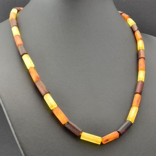 Men's Necklace Made of Precious Healing Raw Baltic Amber