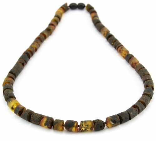 Men's Necklace with Raw Baltic Amber