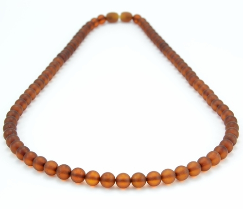 Men's Necklace with Matte Baltic Amber