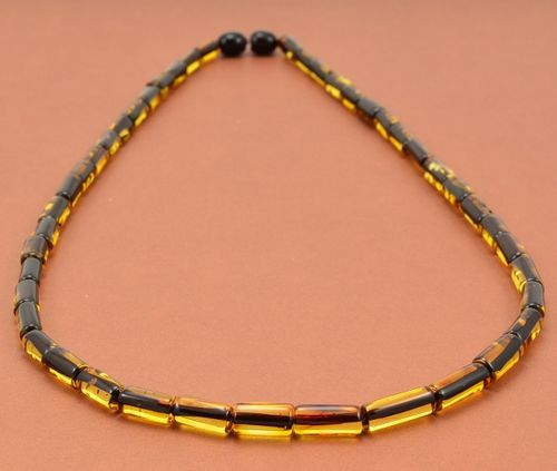 Men's Necklace Handmade of Amazing Baltic Amber