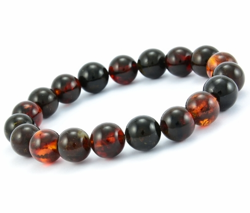 Men's Beaded Bracelet Made of Amazing Baltic Amber