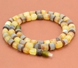Mens Amber Necklace with Matte Baltic Amber