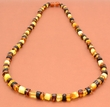 Men's Necklace Made of Multicolor Baltic Amber