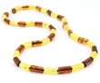 Men's Beaded Necklace with Baltic Amber