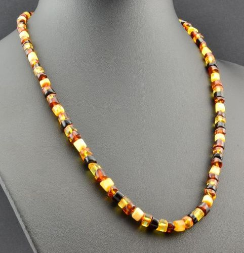 Men's Necklace Made of Made of Precious Healing Baltic Amber