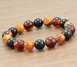 Men's Beaded Bracelet with Multicolor Baltic Amber