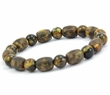Mens Beaded Bracelet with Matte and Polished Healing Amber