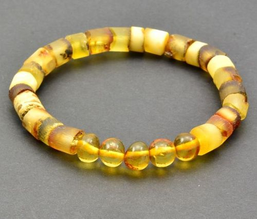 Men's Healing Bracelet Made of Precious Baltic Amber