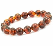 Mens Beaded Bracelet with Amazing Baltic Amber