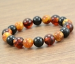 Men's Beaded Bracelet Made of Amazing Multicolor Baltic Amber