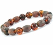 Men's Beaded Bracelet with Baltic Amber