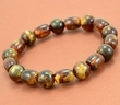 Men's Beaded Bracelet Made of Marble Healing Baltic Amber