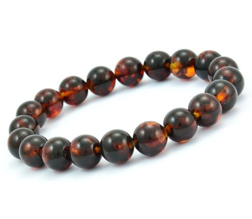 Men's Beaded Bracelet Made of Amazing Healing Baltic Amber