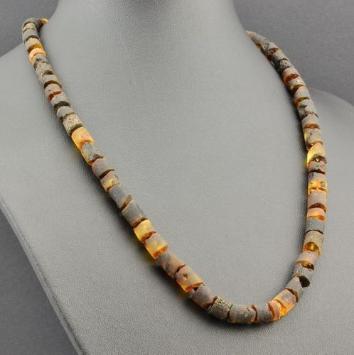 Men's Necklace Made of Healing Raw Baltic Amber