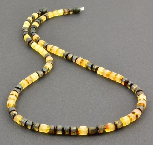 Men's Beaded Necklace Made of Raw Baltic Amber