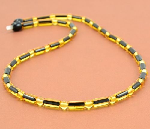 Men's Necklace Made of Healing Amber