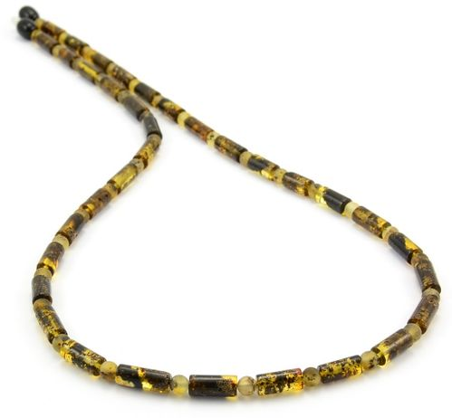 Men's Beaded Necklace Made of Amazing Baltic Amber