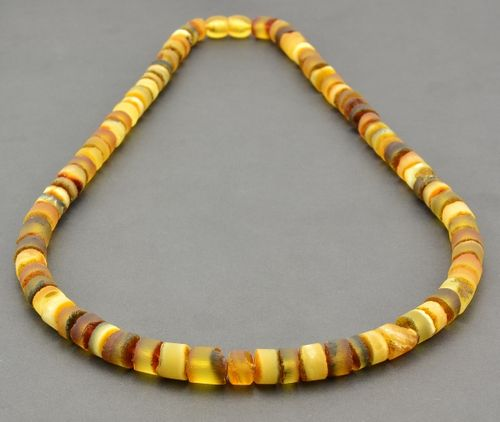 Raw Men's Necklace Made of Precious Healing Baltic Amber