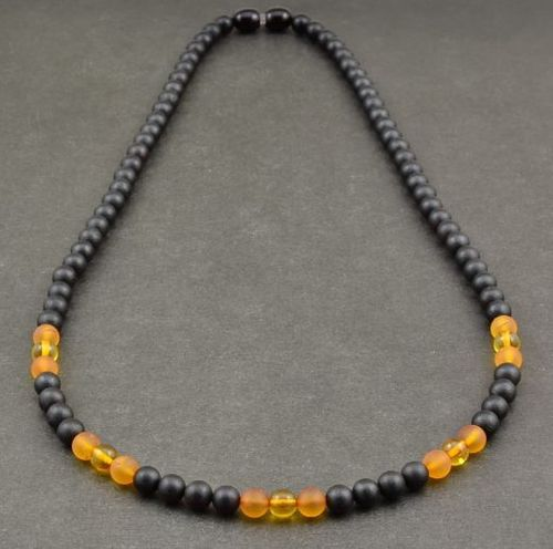 Men's Beaded Necklace Made of Amazing Healing Baltic Amber