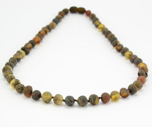 Men's Beaded Necklace Made of Raw Healing Baltic Amber