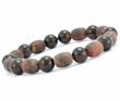 Mens Bead Bracelet with Baltic Amber