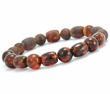 Mens Beaded Bracelet with Baltic Amber