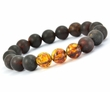 Mens Beaded  Bracelet Made of Amazing Healing Baltic Amber