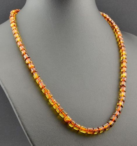 Men's Necklace Made of Precious Healing Baltic Amber