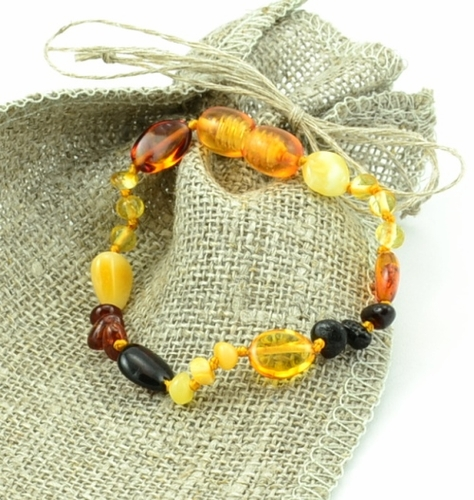 Multicolor amber teething bracelet - SOLD OUT