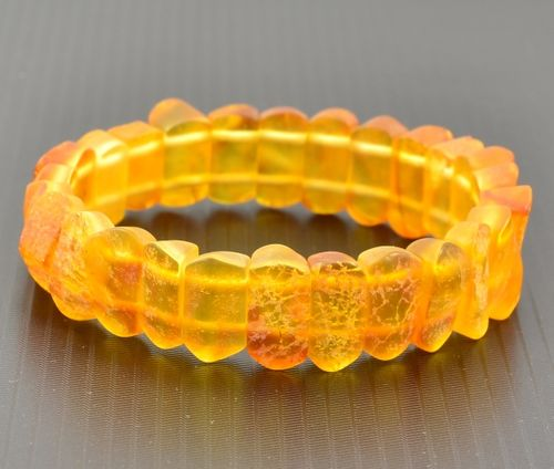 Raw Amber Bracelet with Healing Baltic Amber