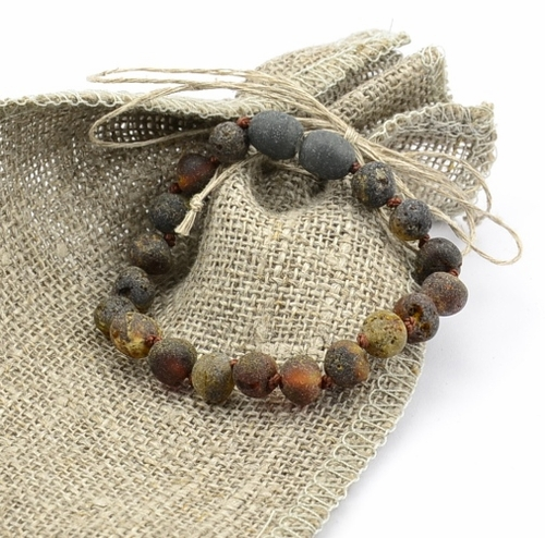 Raw amber teething bracelet - SOLD OUT