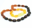 Raw rainbow amber teething necklace - SOLD OUT