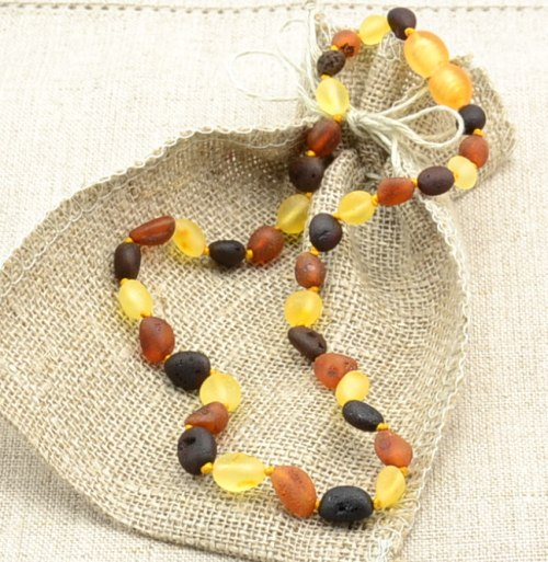 Raw Amber Teething Necklace 100 Natural Pain Relief