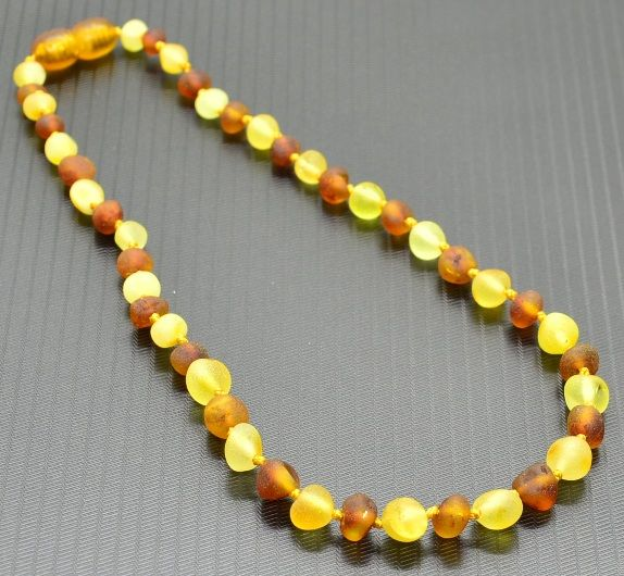 Raw Amber Teething Necklace Helps Stop Teething Pain Naturally