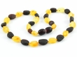 Raw Teething Amber Necklace - 13 inches long