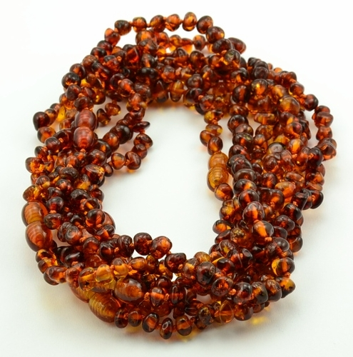 Wholesale lot of 10 cognac amber teething necklaces - SOLD OUT
