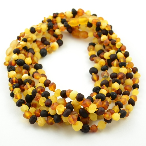 Wholesale lot of 10 raw amber teething necklaces - SOLD OUT