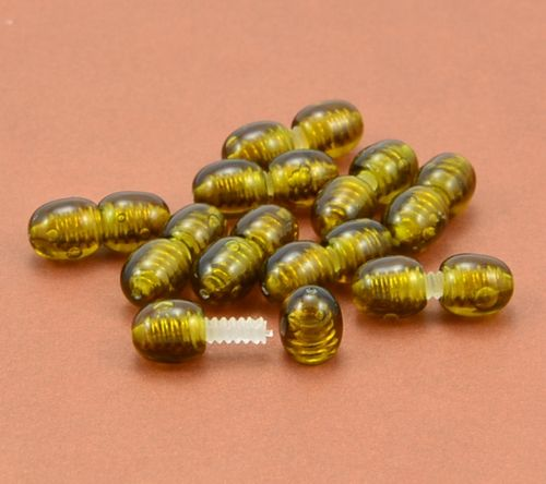 Set of 10 Plastic Polished Screw Clasps - SOLD OUT